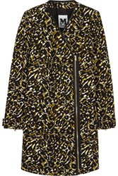 M Missoni Leather Trimmed Printed Cotton Canvas Coat Brown