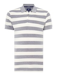 Gant Striped Polo Shirt Regular Fit Midnight Blue