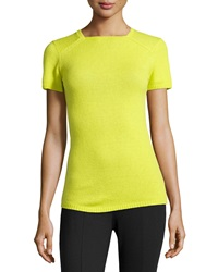 Lafayette 148 New York Cashmere Square Neck Sweater Starfruit