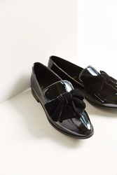 F Troupe Velvet Bow Slip On Shoe Black