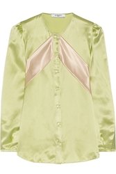 Givenchy Silk Satin Blouse With Contrast Bands