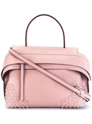 Tod's 'Wave' Tote Pink Purple
