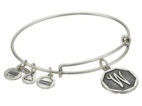 Alex And Ani Initial W Charm Bangle Rafaelian Silver Finish Bracelet