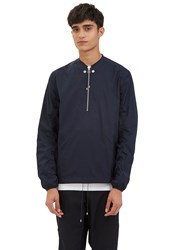Oamc Pullover Zipped Shirt Navy