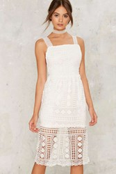 Coppola Crochet Lace Dress White