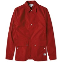 Sassafras Fall Leaf Poplin Jacket Red