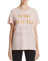 Wildfox Couture More Glitter Tee Rose Smoke