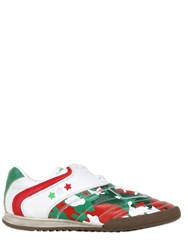 Pantofola D'oro Italy World Cup Leather Sneakers White Green