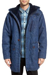 Outerknown Men's Arroyo Quilted Denim Hooded Jacket