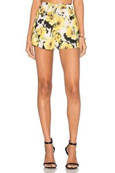 J.O.A. Floral Short Yellow