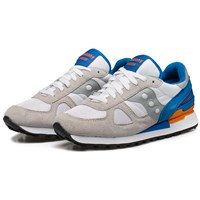 Saucony White Blue Shadow Original Sneakers