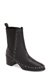 Adrianna Papell 'Bennett' Studded Boot Women Black Tumbled Leather