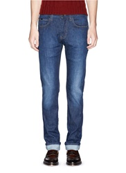 Armani Collezioni Slim Fit Stretch Denim Jeans Blue