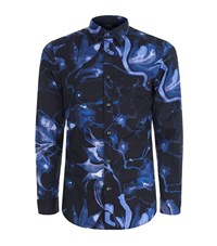 Diesel Galaxy Print Shirt Male Blue