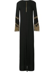 By. Bonnie Young Nail Embellished Gown Dress Black