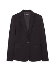 Mango Essential Structured Blazer Black