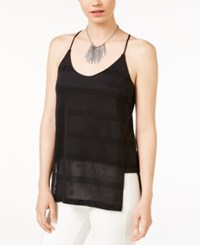 Armani Exchange Perforated Camisole Solid Black