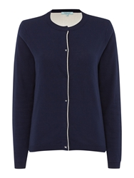 Dickins And Jones Double Knit Cardigan Navy