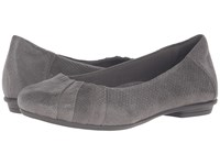 Earth Bellwether Dark Grey Print Suede Women's Shoes Gray