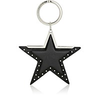 Givenchy Women's Leather Star Key Ring Silver