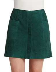 424 Fifth Suede Zip Mini Skirt June Bug