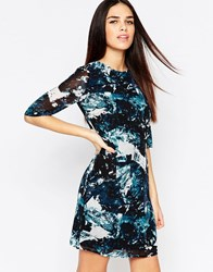 Sugarhill Boutique Amelia Dress In Icey Print Teal