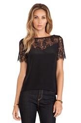 Myne Finn Lace Top Black