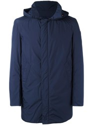 Save The Duck Hooded Padded Coat Blue