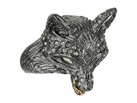 Alexis Bittar Crystal Encrusted Fox Ring