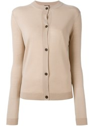 Jil Sander Navy Classic Cardigan Nude And Neutrals