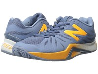 New Balance Wc1296v2 Grey Yellow Women's Tennis Shoes Gray