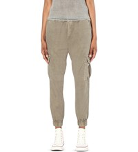 Nsf Johnny Canvas Military Trousers Pigment Army