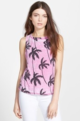 Chaser 'Palm Tree Dream' Muscle Tank Pink