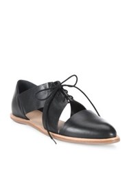 Loeffler Randall Willa Cutout Leather Oxfords Black