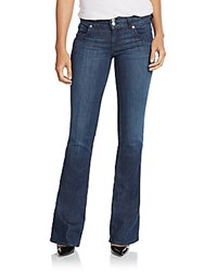 Hudson Mid Rise Flared Bootcut Jeans Hunny Bunn Blue