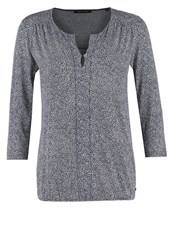 Marc O'polo Gatherin Long Sleeved Top Anthracite Offwhite