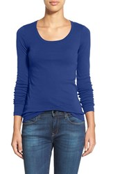 Caslonr Women's Caslon 'Melody' Long Sleeve Scoop Neck Tee