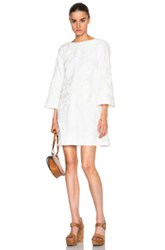 Zimmermann Empire Iris Shift Dress In White