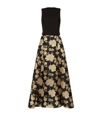 Jovani Floral Jacquard Two Piece Gown Female Black