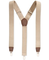 Club Room Men's Solid Suspenders Only At Macy's Khaki