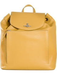 Vivienne Westwood Rectangular Backpack Yellow And Orange