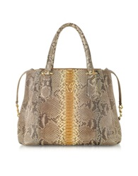 Ghibli Python Leather Tote Gray