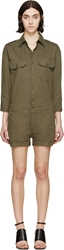 Nlst Green Officer's Romper