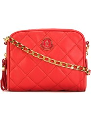 Moncler Quilted Cross Body Bag Red