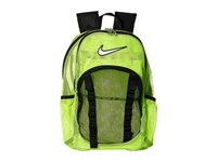 Nike Brasilia 7 Backpack Mesh Large Volt Black White Backpack Bags Yellow