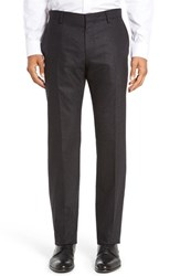 Boss Men's 'Genesis' Flat Front Solid Stretch Wool And Cashmere Trousers