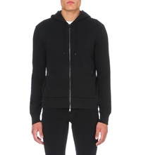 Ralph Lauren Black Label Brand Embroidered Jersey Hoody Polo Black
