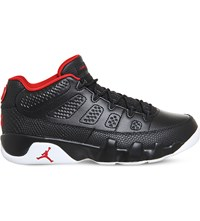 Nike Jordan 9 Retro Low Top Leather Trainers Black Gym Red White