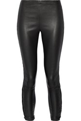 Haider Ackermann Lace Up Leather Leggings Black