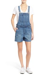 Women's Madewell Cutoff Denim Short Overalls